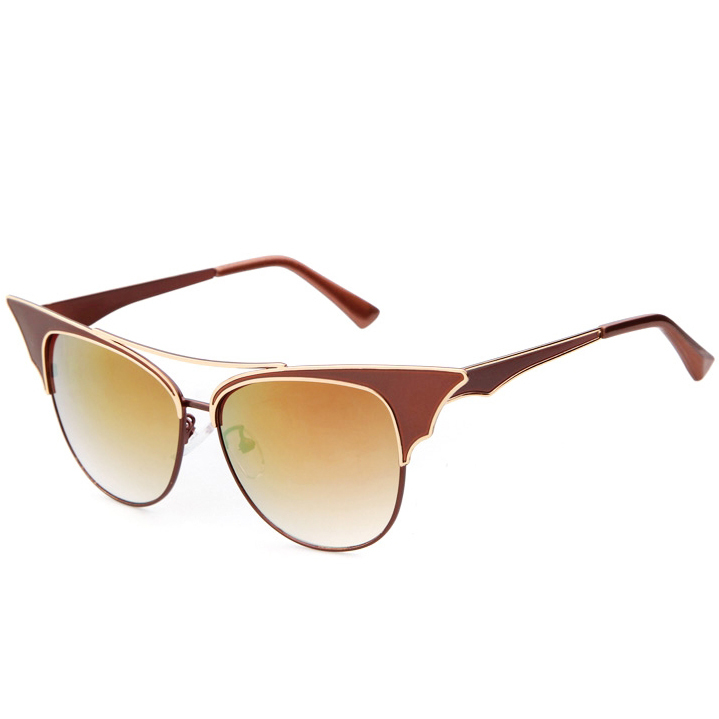 Metal cateye Steampunk unisex sun glasses Double Bridge stainless frame women and men sunglasses mcqueen men(China (Mainland))
