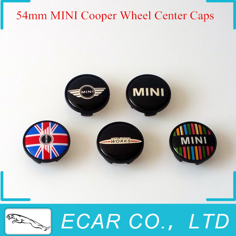 Car Styling 4 x 54mm MINI John Works Wheel Hub Center Cap for MINI Countryman Paceman Clubman Coupe JCW Roadster(China (Mainland))