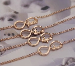2013 New fashion foot Jewelry Infinity Blessing wish Anklets for women girl ladie's wholesale (mix order) AN04(China (Mainland))