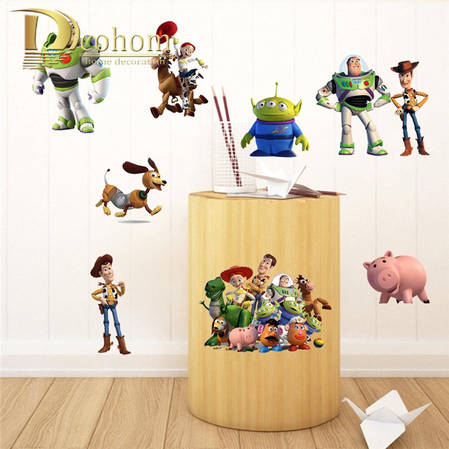 Wall Decals Toy Story Woody Buzz Lightyear DIY Wall Sticker Kids ...