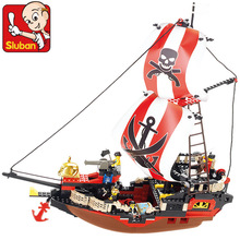 Sluban Pirate Ship Pirate Treasure Ship Weapons Building Blocks Sets Figures Minifigures Compatible With Lego W
