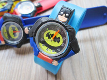 HOT Sale slap watches 3D Kid Cartoon watches Batman children High quality slap wristwatch 1pcs