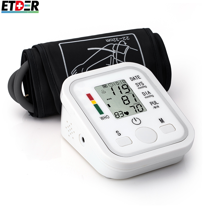 Digital Upper Arm Blood Pressure Pulse Monitors tonometer Portable health care bp Blood Pressure Monitor meters sphygmomanometer(China (Mainland))