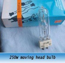250W MSD-250 moving head light bulb for Bar Pub Disco stage lighting 2pcs(China (Mainland))