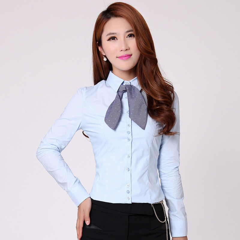 Buy casual shirt women s white blouse shirts office ladies formal wear