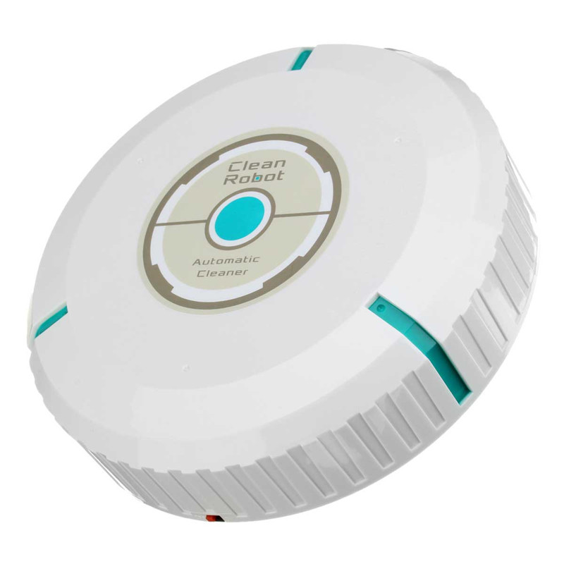 High Quality 9 inch Home Robotic Smart Automatic Vacuum Cleaner Robot Microfiber Mop Dust White(China (Mainland))