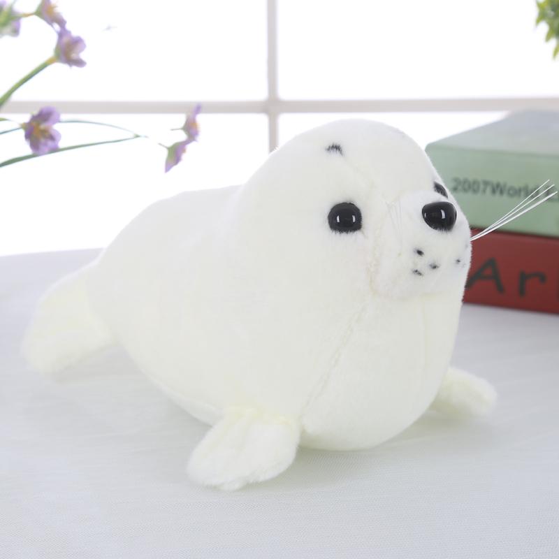 large 50cm cartoon white seal plush toy soft pillow Christmas gift b1239(China (Mainland))