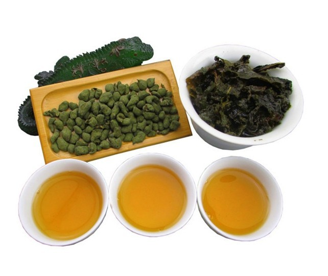 Гаджет  Organic Ginseng Oolong Green Tea Vacuum Packing oolong tea 250g free shipping  None Еда