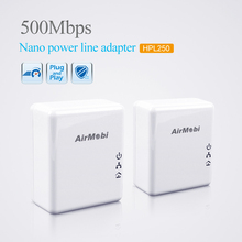 Hot sales 500Mbps Starterkit Powerline Network Electric Power Adapter Link Ethernet Homeplug eu or us plug a pair free shipping