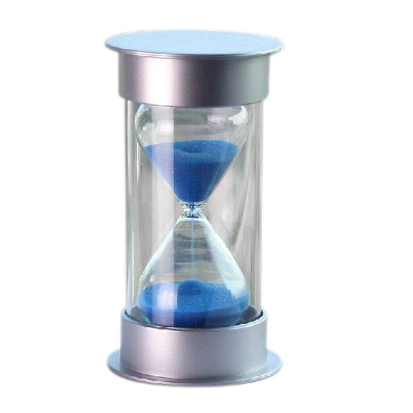 5pcs/lot Plastic Crystal Sandglass 10 Minutes Sand Clock Decoration Sandglass Timer blue TOOGOO(R)(China (Mainland))