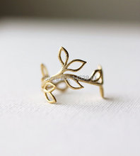 Buy Delicate Leaf Branch ring Silver OR Gold, Everyday jewelry, Leaf Ring, Vine Ring,Adjustable Ring,Gift Her--12pcs/lot for $11.24 in AliExpress store