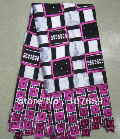 Free shipping by DHL,Cotton gauze stone, Africa lace fabric,SW-2509(China (Mainland))