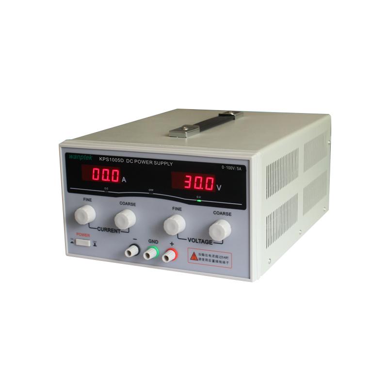 KPS1005D High precision High Power Adjustable LED Dual Display Switching DC power supply 220V EU 100V/5A(China (Mainland))