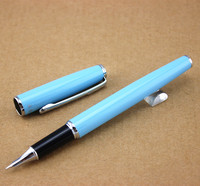2PCS New arrival luxury Eternal life Light blue pen with silver clip  Copernicus Fountain Pen office supply  pen for writing