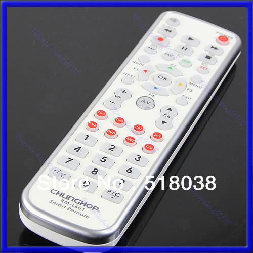P80 Free Shipping New 8in1 Universal Remote Control Controller Fr TV1 TV2 CBL SAT DVB DVD AMP CD W(China (Mainland))