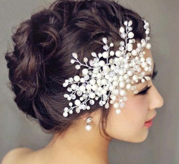2015 fashion hair accessories wedding bridal faux pearl - Como hacer adornos para el pelo ...