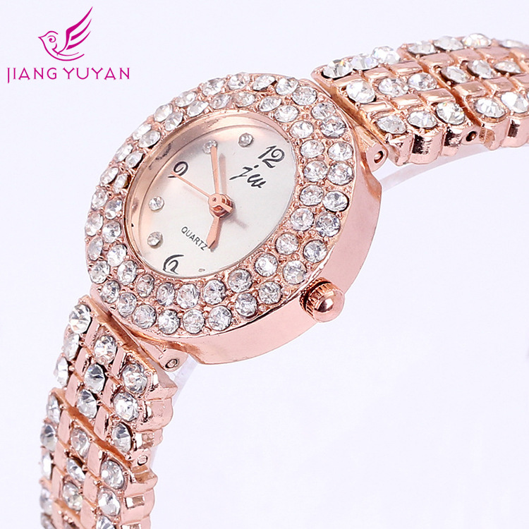2015 JW quality goods, drill steel and luxury watches, rose gold bracelet table, figure the table with diamonds(China (Mainland))