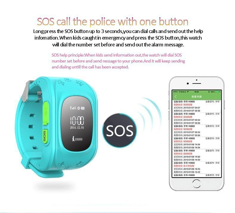 image for Q50 Kid GPS Watch Anti Lost Smart Watch With OLED Screen Child GPS Loc