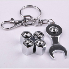Wheel Tire Valve Caps with Mini Wrench & Keychain for Hyundai (4-Piece/Pack)(China (Mainland))