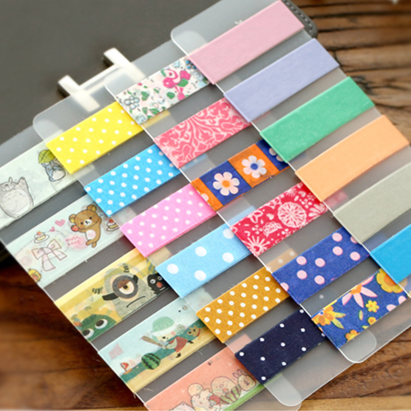 6pcs/lot Japanese Kawaii Sticky Tape Accessories Matte PVC Washi Tapes Tools Wrap Band Paper Sticker Winding tool(China (Mainland))