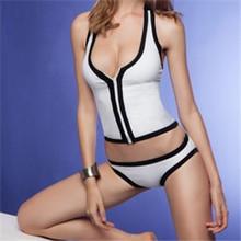 2016 elegant pure white classical cool sexy girls Bikini women summer Bikini Swimsuit Swimwear sexy swimming suit good quality