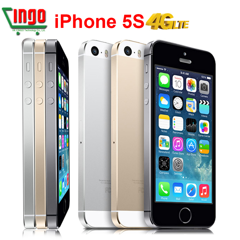 "Original Unlocked Apple iPhone 5S 16GB/32GB/64GB Mobile Phone 5S Dual-Core 1.3GHz IOS 8 4.0"" 8MP 1080P WIFI GPS 4G Cell Phone(China (Mainland))"