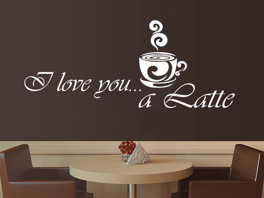 Coffee Vinyl Wall Decal Coffee Latte Kitchen Cafe Interior Decor Mural Art Wall Sticke Coffee Shop Window Glass Home Decoration(China (Mainland))