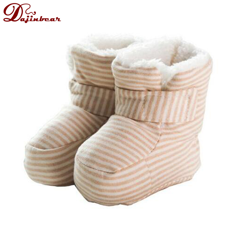 Warm Cotton Baby Shoes Infants Crochet Knit Fleece Boots Wool Snow Crib Shoes Toddler Boy Girl Winter Booties(China (Mainland))