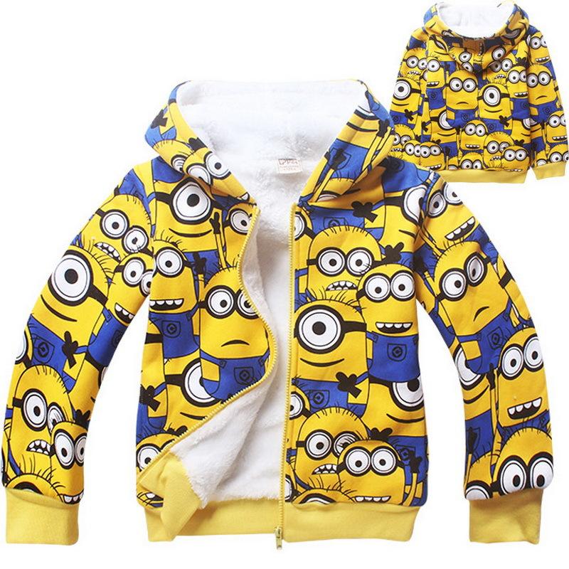 Гаджет  2015 New Arrival Boys & Girls Winter Coral Fleece Minions Hoodies Kids Brand Cartoon Hooded Clothes Children Sweatshirts , LC440 None Детские товары