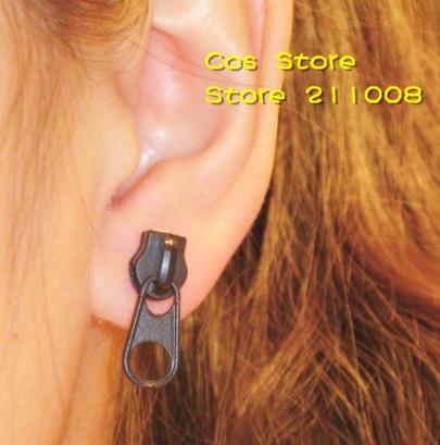 Гаджет  Free shipping, PUNK  Zipper Shape Studs Earring, 12 pair/lot. 3 colors None Ювелирные изделия и часы
