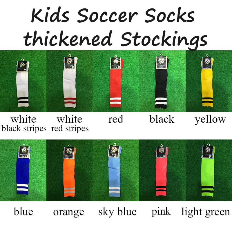 Kids 2 Stripes Thickened Sport Football Soccer Socks Above Knee Socks Long Thick Bottom Soccer Stockings For Children<br><br>Aliexpress