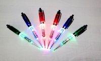 LED light ballpoint pen cheap LED light pens Plastic material Light-emitting ballpoint pen Writing in the darkness 5 pieces/lot