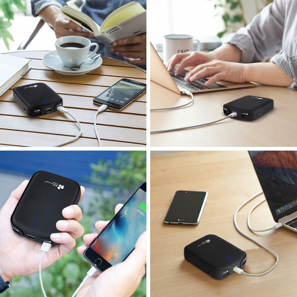 EC Technology 7800 mah External Battery Power Bank Rechargeable 18650 Battery Portable Charger Backup Pack