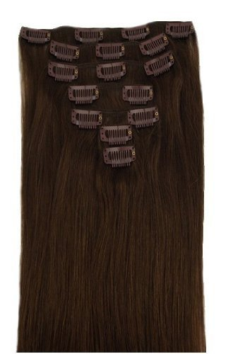 HOT Brazilian Clip In Human Real Hair Extensions 100% Hair Clip Ins 15 inch 18 inch 20 inch 22 inch 70g/7pcs/set
