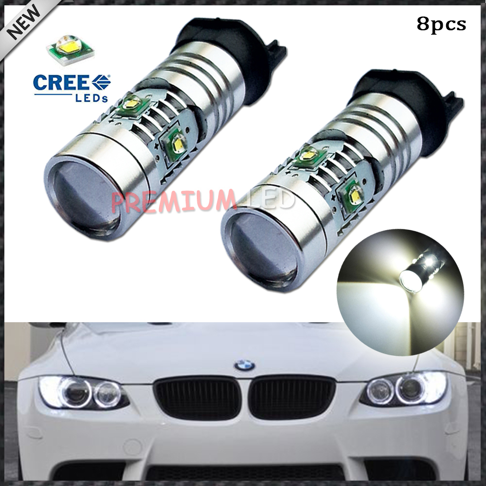8pcs Xenon White 25W CREE PW24W PWY24W LED Bulbs For Audi BMW Volkswagen Front Turn Signal Lights or Daytime Running Lights(China (Mainland))