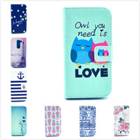 Imagery Printing Card Slot Leather Cover Stand For LG G2 Mini D620 D618 Flip Leather Case For LG G2 Mini Free shipping