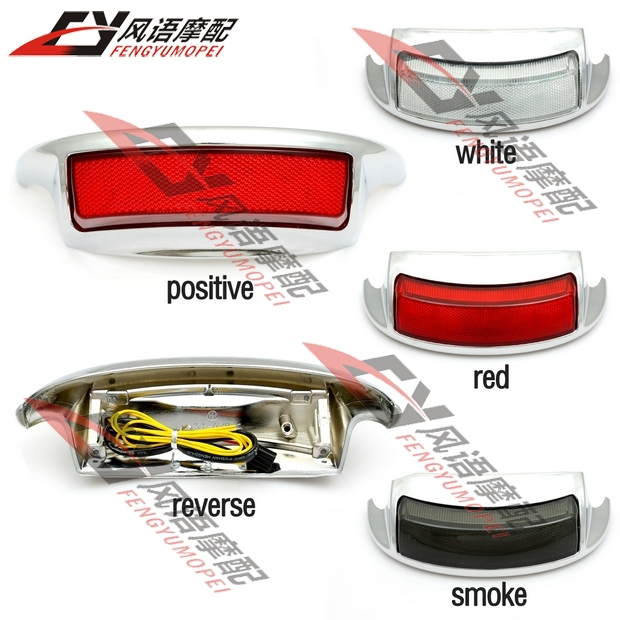 White Red Smoke Lens LED Rear Fender Taillight lamp Turn signals Brake lights For Harley Ultra Classic Electra Glide Road king(China (Mainland))