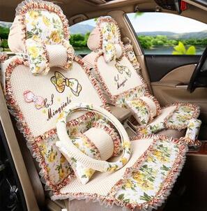 douce fleur femmes femme housse de si ge de voiture filles auto chaises couvrent ensemble. Black Bedroom Furniture Sets. Home Design Ideas