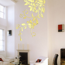 Buy 140*81cm DIY Acrylic Mirror Wall Stickers Home Decor Wall Decals Decoration Mirror Defoliation Flower Vine Stickers Mural for $11.89 in AliExpress store