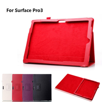 Folio Soft PU Leather Case Cover Stand Protective Holder For Microsoft Surface Pro 3 12
