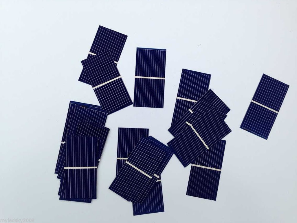 100pcs Polycrystalline Silicon solar cells 52 * 26mm DIY 0.25W 0.5V solar cell panels(China (Mainland))