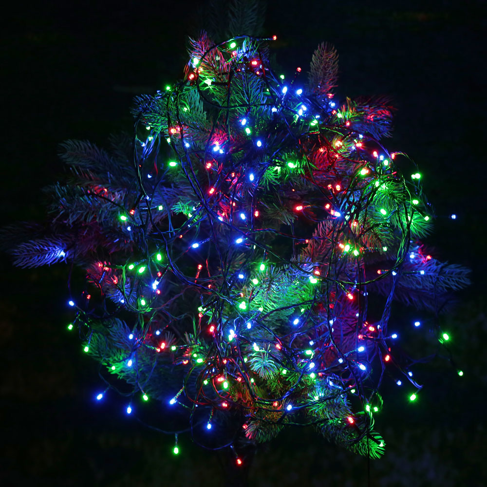 usb dc 5v rgb 100 led christmas string light for outdoor fairy xmas tree wedding holiday party. Black Bedroom Furniture Sets. Home Design Ideas