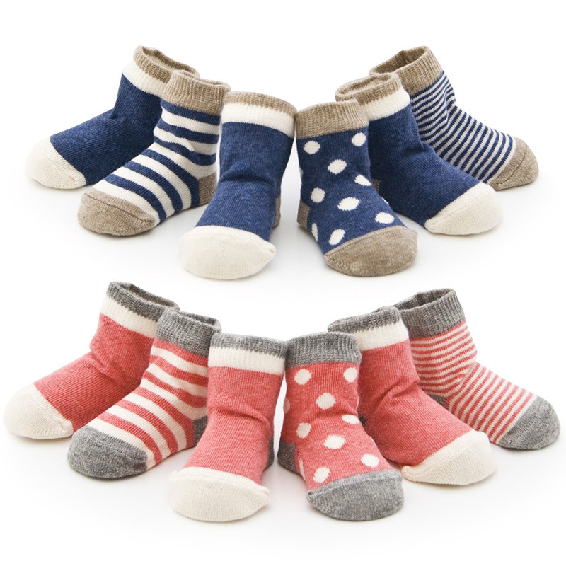 Baby Socks New Born Meias Meia Exprot USA,100%Cotton,Factory Selling,Size For : 0-6month,6-12month,1-3years baby,4Pcs/set CCO33(China (Mainland))