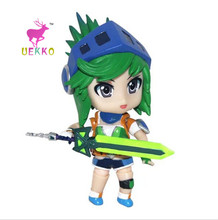UEKKO Brand New hot sale Game anime figure PVC doll toy LOL Rivan with sticker action Model For Collection / Gift Original Box