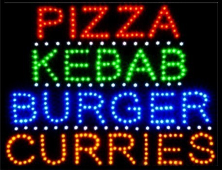 2016 Special Offer Hot Sale custom Graphics 15mm indoor Ultra Bright 19X19 Inch pizza/kebab/burger/curries store sign of led-(China (Mainland))