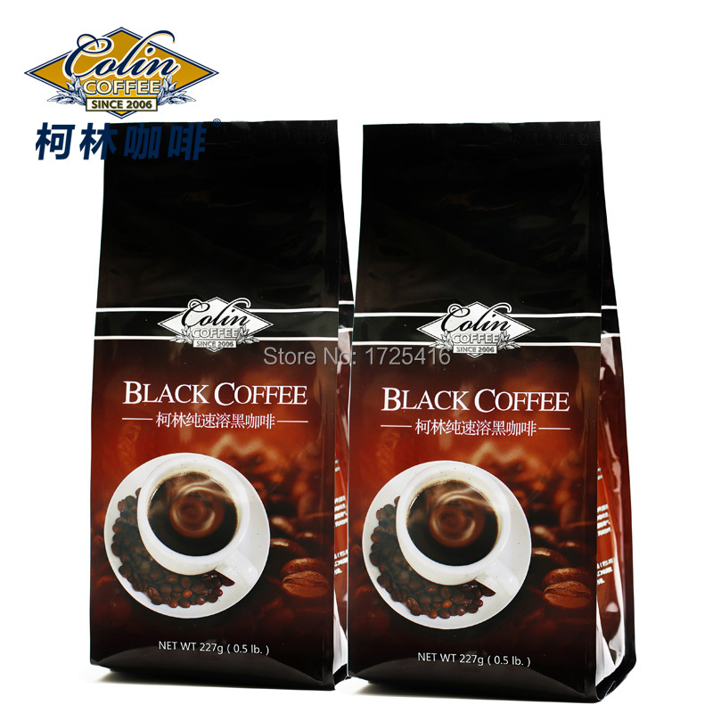 Colin 100 pure instant coffee black coffee without sugar smooth milk powder to 454 g free
