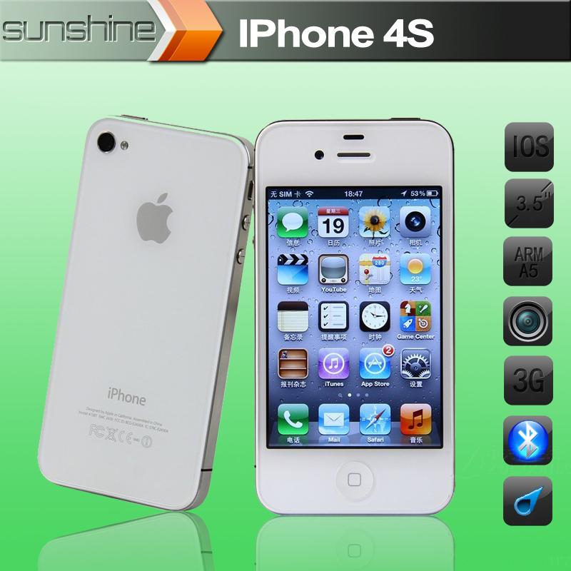 "iPhone4s Original Unlocked Apple iPhone 4S Mobile Phone 3.5"" IPS Smartphone 512MB RAM 16GB ROM Used Phone 3G GPS iOS Cell Phones(China (Mainland))"