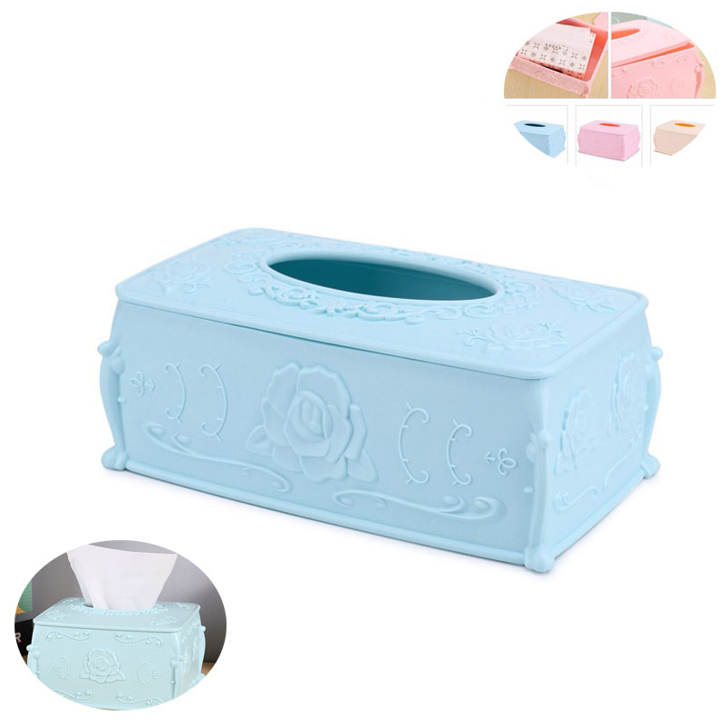 European Household Creative European Pumping paper towel box plastic Storage box office room Sundries organizer(China (Mainland))