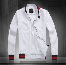 Hot 5 Color 2014 New High Quality Brand Men's Famous Winter Stand Collar Jacket For Man #16387 Zipper Free Shipping M-XXL(China (Mainland))