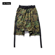 2016 New Summer Military Camouflage Men's Shorts Army Style Short Pants Man Swag Kanye Yeezus Hip Hop Streetwear Beach Bermudas